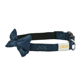 Argyle Dog Bowtie Collar, Large