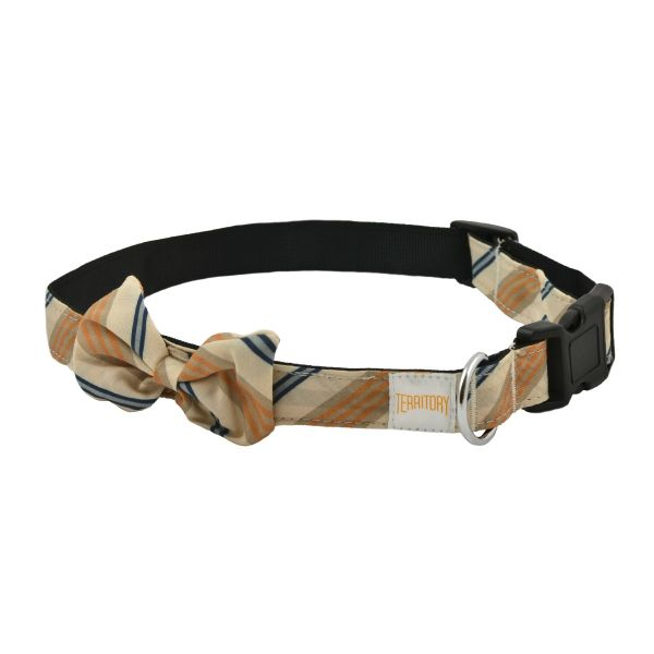 Stripe Dog Bowtie Collar, Small